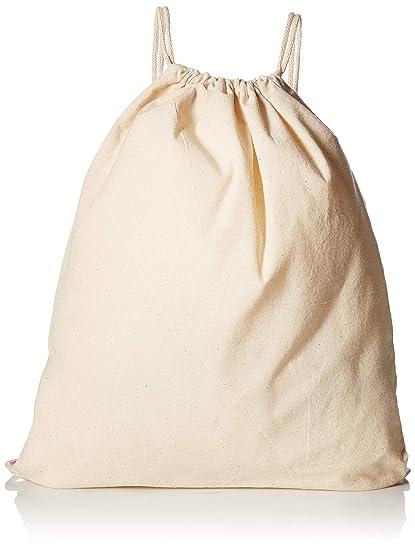 76d5a40fd5 Amazon.com  (12 Pack) 1 Dozen - Durable Cotton Drawstring Tote Bags  (Natural)  Home   Kitchen