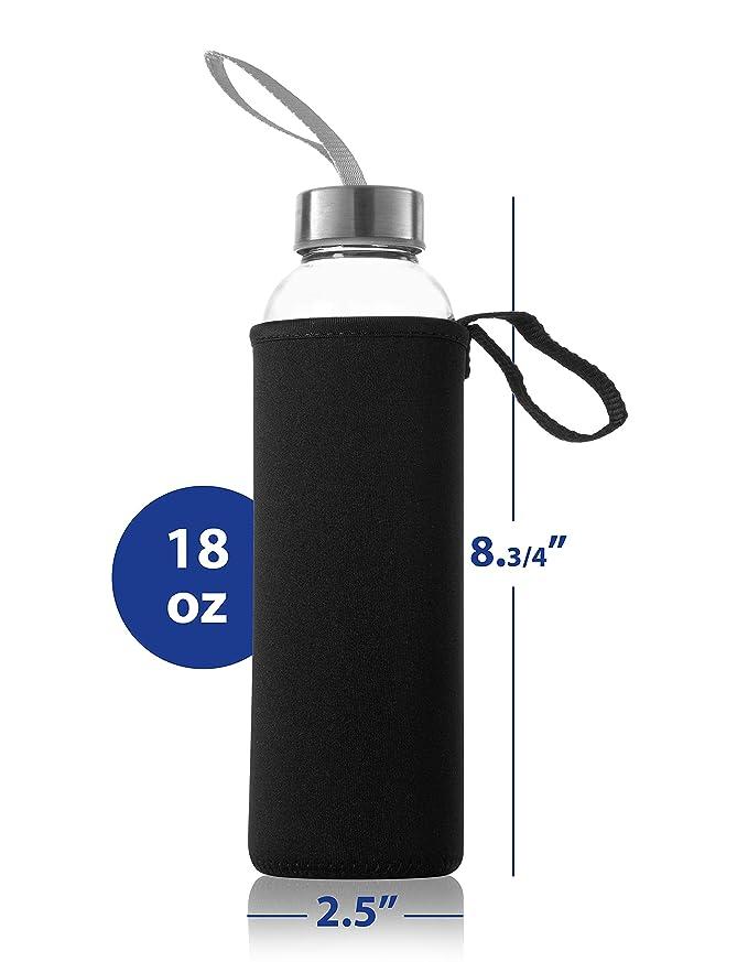 Amazon.com: Zuzoro – 6 unidades – Botellas de agua de vidrio ...