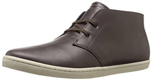 Zapatillas Botin Fred Perry Byron Mid Leather Dark Chocolate (41)