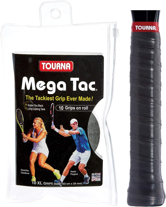 Tourna Mega TAC Grip - Raqueta de Tenis, Unisex Adulto, MT-10-XL ...