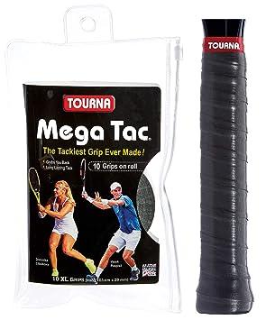 TOURNA Mega TAC Grip - Rollo DE 10 Grips, Negro: Amazon.es: Deportes y aire libre