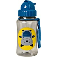 Skip Hop Zoo Straw Bottle, 350ml capacity, Bat