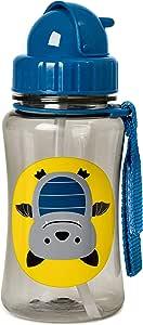 Skip Hop Zoo Straw Bottle, 350ml capacity, Bat