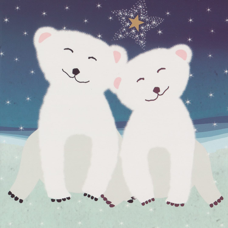 WWF Animal charity baby Polar Bear Christmas Cards (Pack 10) Wish ...