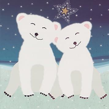 Wwf Weihnachtskarten.Wwf Weihnachtskarten Motiv Baby Eisbär 10 Stück Amazon De Küche