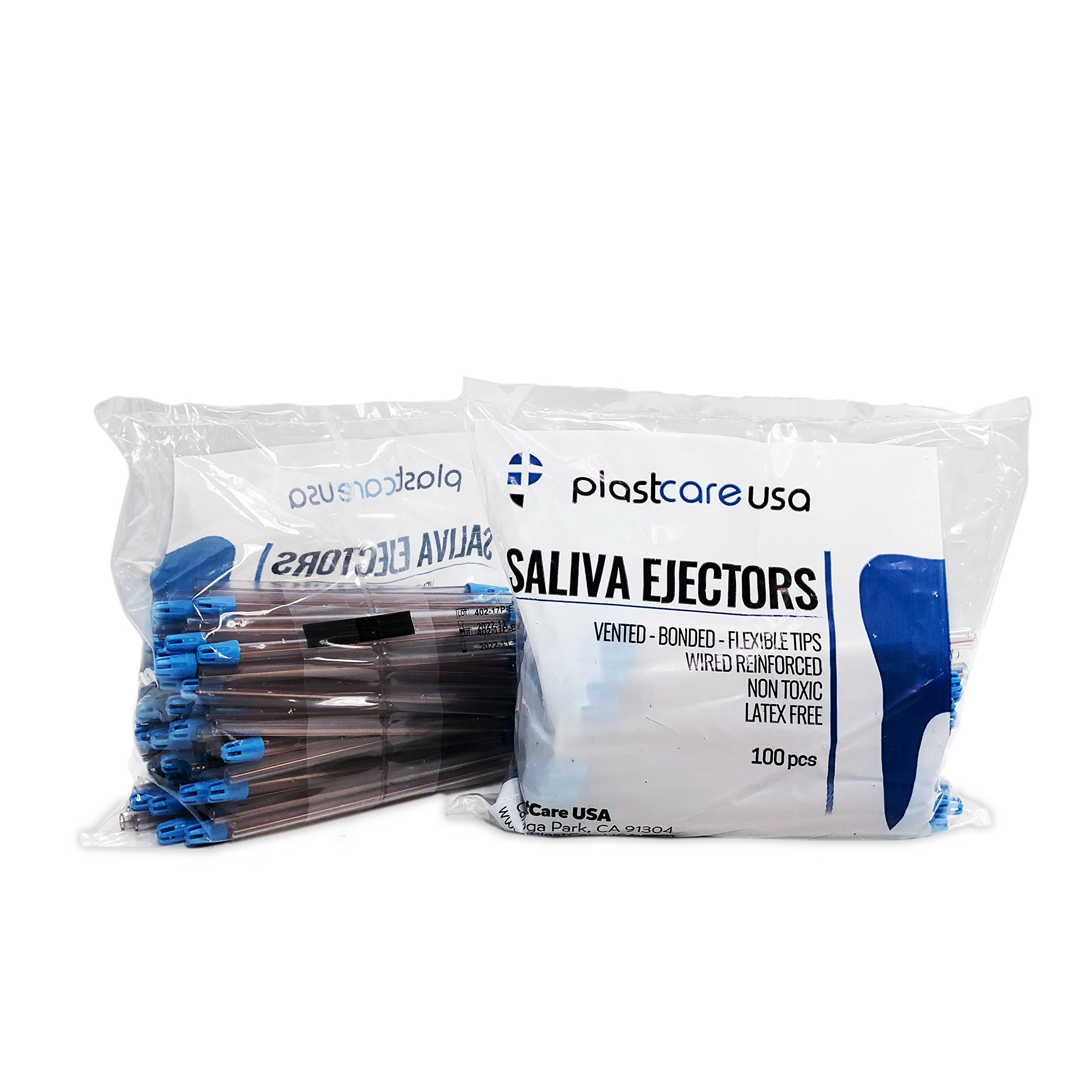 Saliva Ejectors, Clear (Case of 1000), Made In Italy by PlastCare USA (Image #2)