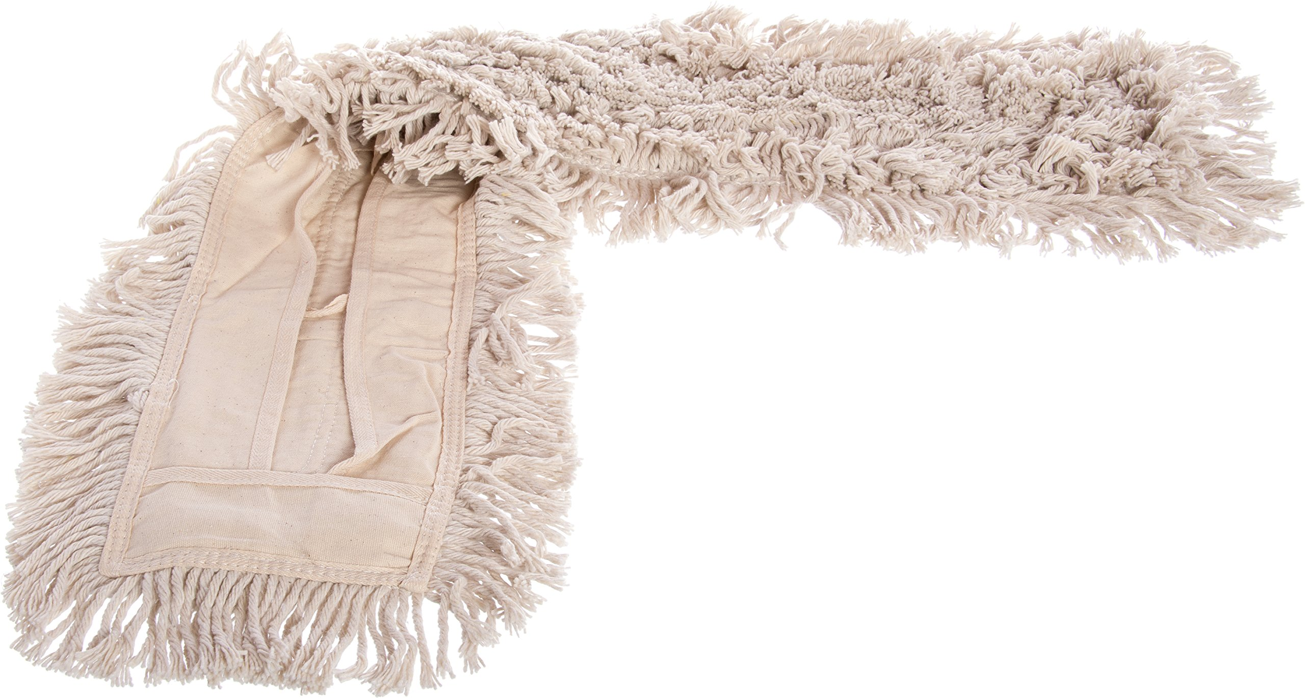 Carlisle 364753600 Flo-Pac Cotton Tie Back Dust Mop, 36'' Length x 5'' Width, Natural (Pack of 12) by Carlisle (Image #3)