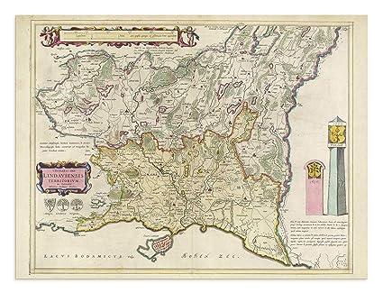 Lindau Germany Map.Amazon Com The Blaeu Prints Lindau Germany Historical Map
