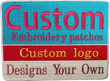 Custom Personalized  7 tall  monogram ampersand iron on or sew on applique patch /&
