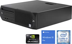 HP Z2 G4 Desktop, Intel Core i7-9700 Upto 4.7GHz, 8GB RAM, 512GB NVMe SSD, NVIDIA Quadro P620, DVDRW, Mini DisplayPort, Wi-Fi, Bluetooth, Windows 10 Pro