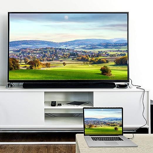 Rankie Cable DisplayPort DP a HDMI, 4K Resolución, 1,8 m, Negro: Amazon.es: Electrónica