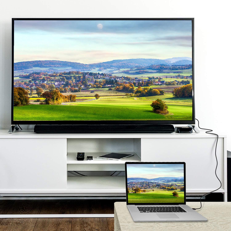 Rankie Cable DisplayPort DP a HDMI Negro 4K Resoluci/ón 3 m