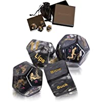 Sex Dice Sex Game for Adult Couples Prime with 34-Position Booklet | Sex Toys & Games for Adults, Beautifully Gift Packaged to Make The Perfect Couples Gift (Black)