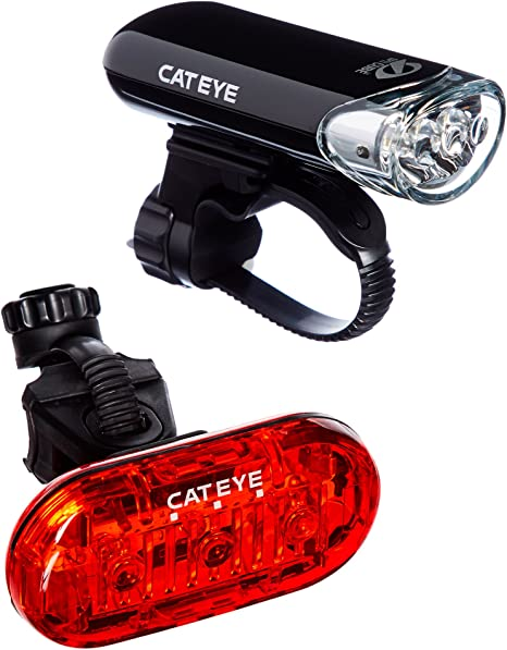 Cat Eye HL-EL135 - Faro LED de Seguridad para Bicicleta de Carretera y Omni 3 Luces traseras traseras, Juego de Luces LED para Bicicletas: Amazon.es: Deportes y aire libre