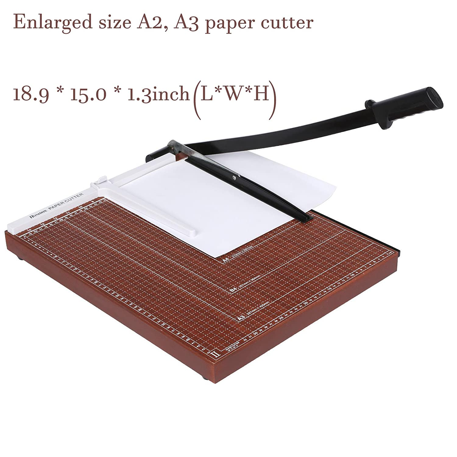 Professional Office Home Guillotine A4 Paper Cutter Black Steel Durable Accurate Desk Tops Paper Cutter Trimmer Scrap Machine(White, 12.5 x 9.8 x 1.2inch) 12.5 x 9.8 x 1.2inch) Evokem