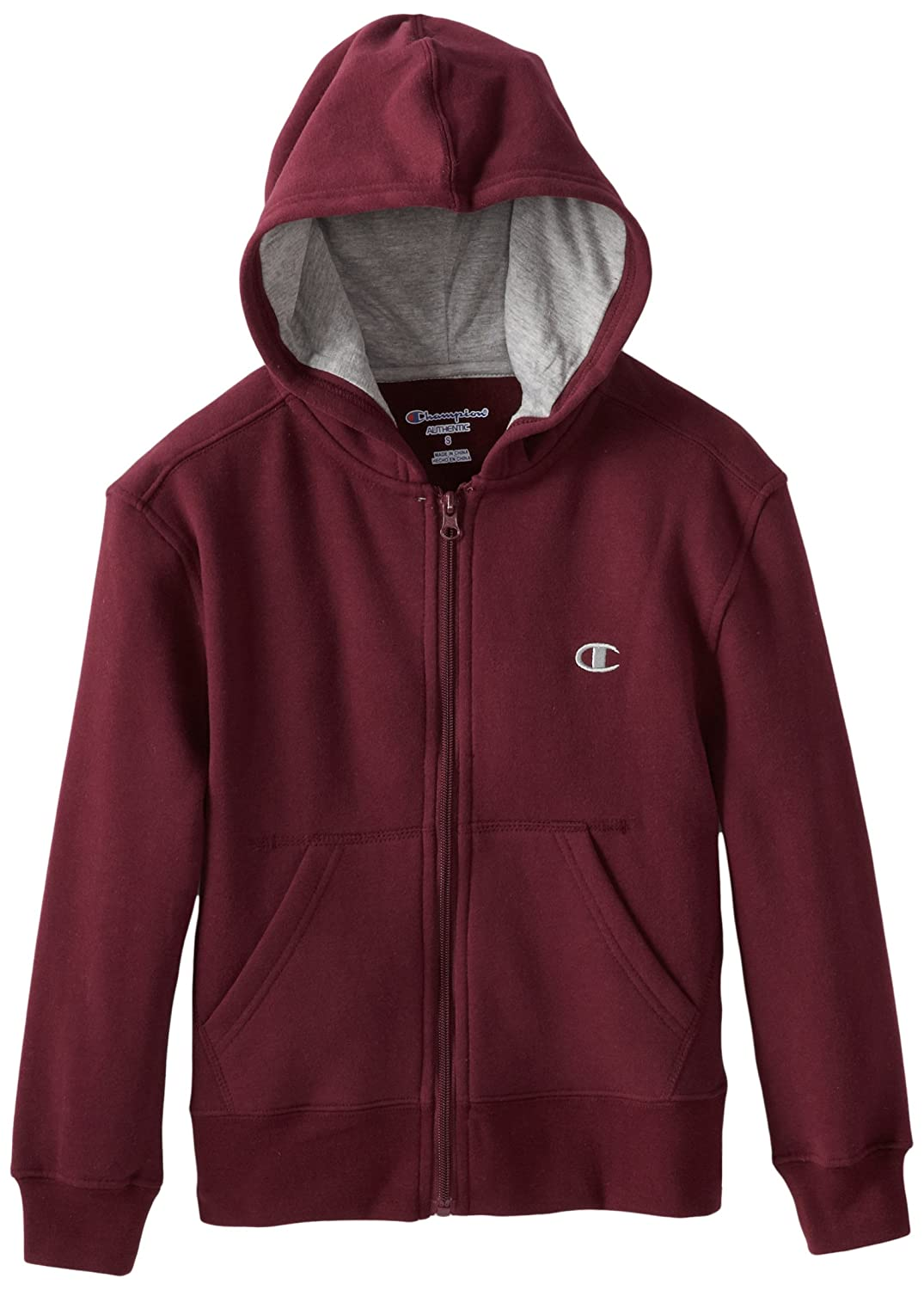 Amazon.com: Champion Big Boys' Zip-Front Hoodie, Oxford Gray Heather,  Small: Athletic Hoodies: Clothing
