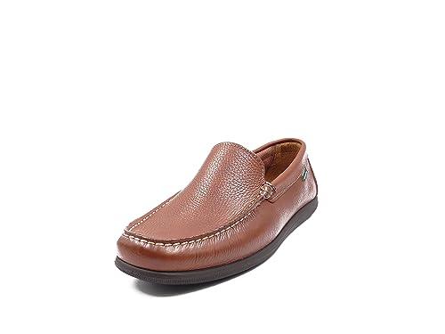 Zapato Hombre Tipo Mocasín Pitillos, Color Cuero - 4850 -: Amazon.es: Zapatos y complementos