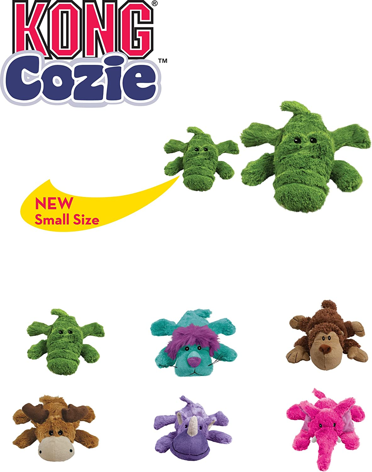KONG Indoor Cuddle Squeaky Plush Dog Toy For Small Dogs Cozie/™ Marvin Moose