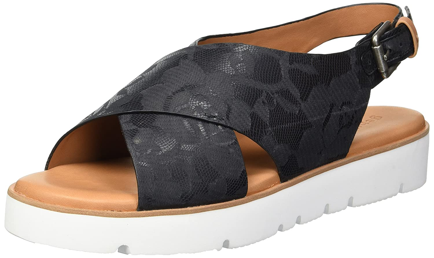 Gentle Souls by Kenneth Cole Women's Kiki Platform Sandal B0789W4RSY 9.5 M US|Black Printed