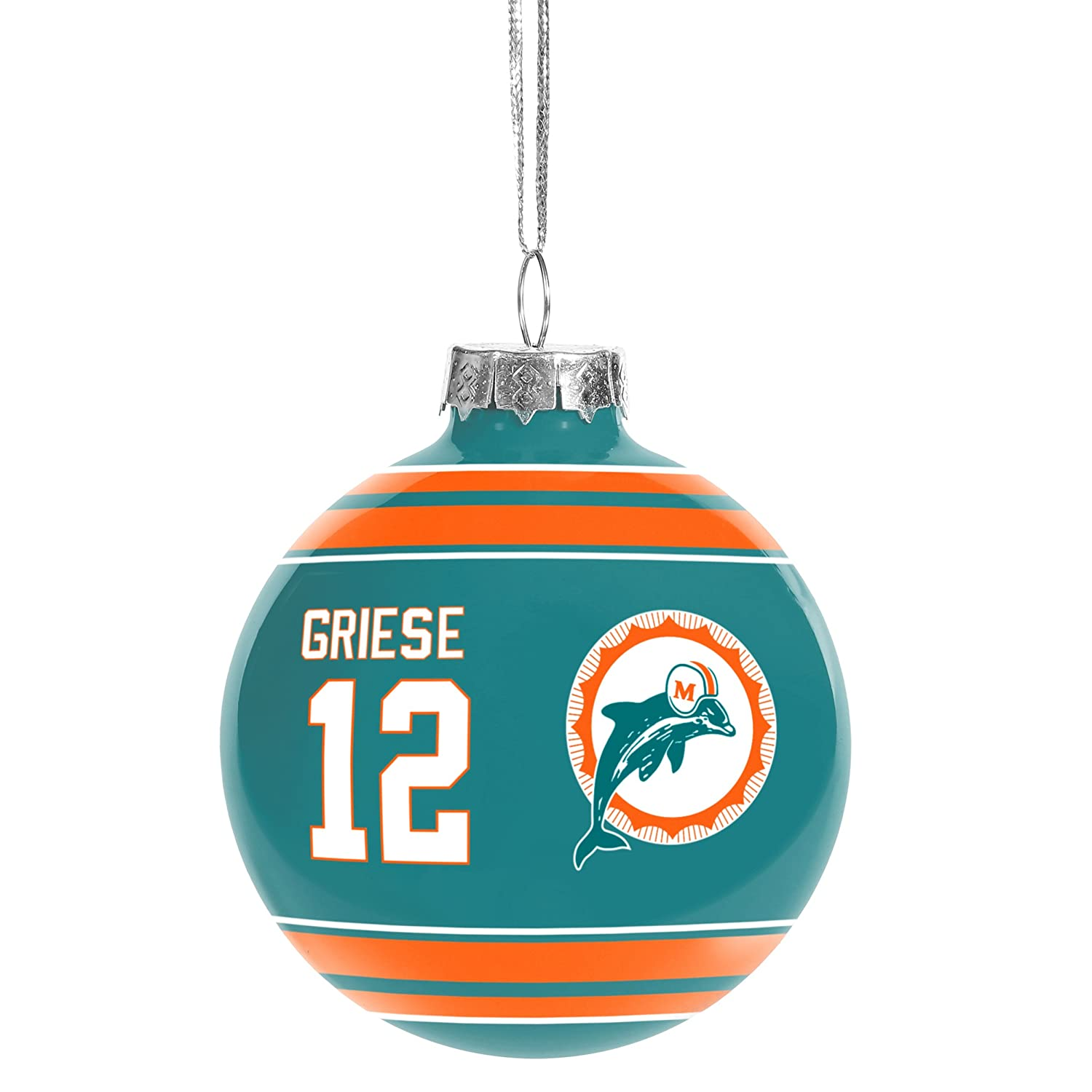 Miami Dolphins Official Griese B. #12 Player Holiday Christmas Ornament