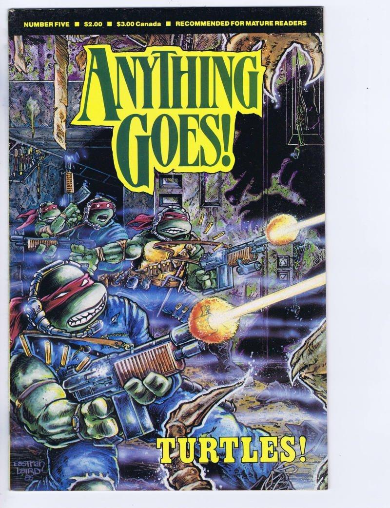 Amazon.com: ANYTHING GOES #5, VF, Teenage Mutant Ninja ...