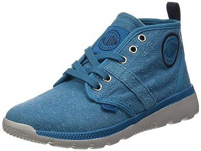 Palladium Plvil Hi F, Baskets Hautes Femme, Bleu (Mosaic bleu/Moonbeam), 40 EU