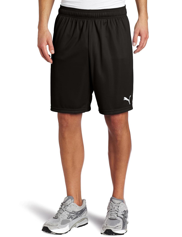 PUMA Team Shorts without Inner Slip, schwarz-Weiß, Small