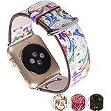 X-cool para correa apple watch 38mm Cuero blando Diseño de temporadas para Apple Watch Series 3 /2/1(Primavera-38)