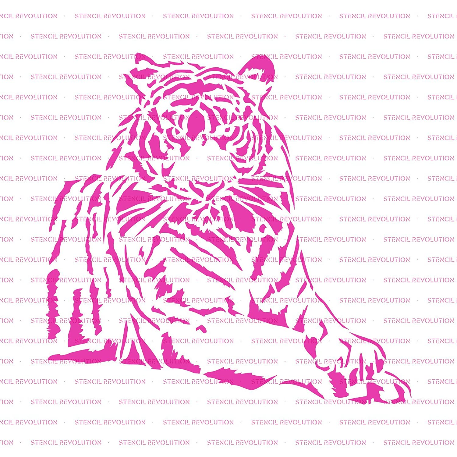 Tiger Stencil Template for Walls and Crafts Reusable Stencils for Painting in Small /& Large Sizes
