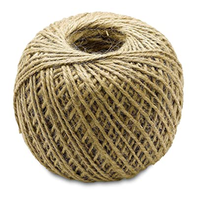 Katzco Brown, 400 Foot Jute Twine - All Natural, Biodegradable, 1 Pack : Office Products