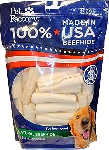Pet Factory Mini Beef Retriever Rolls, 3.5-Inches each, 16 Ounce Bag