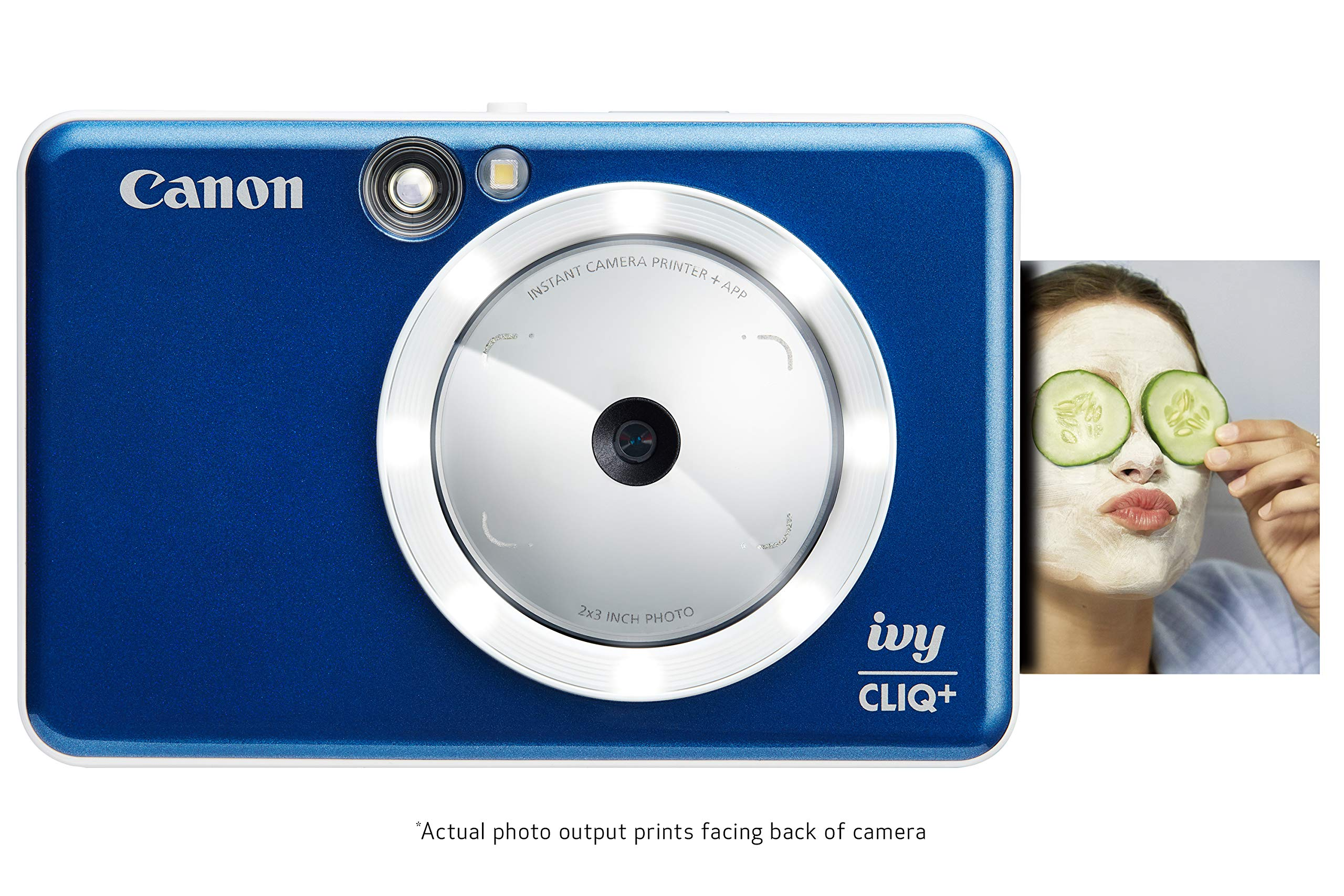 Canon Ivy CLIQ+ Instant Camera Printer, Mobile Photo Printer Via Bluetooth(R), Sapphire Blue
