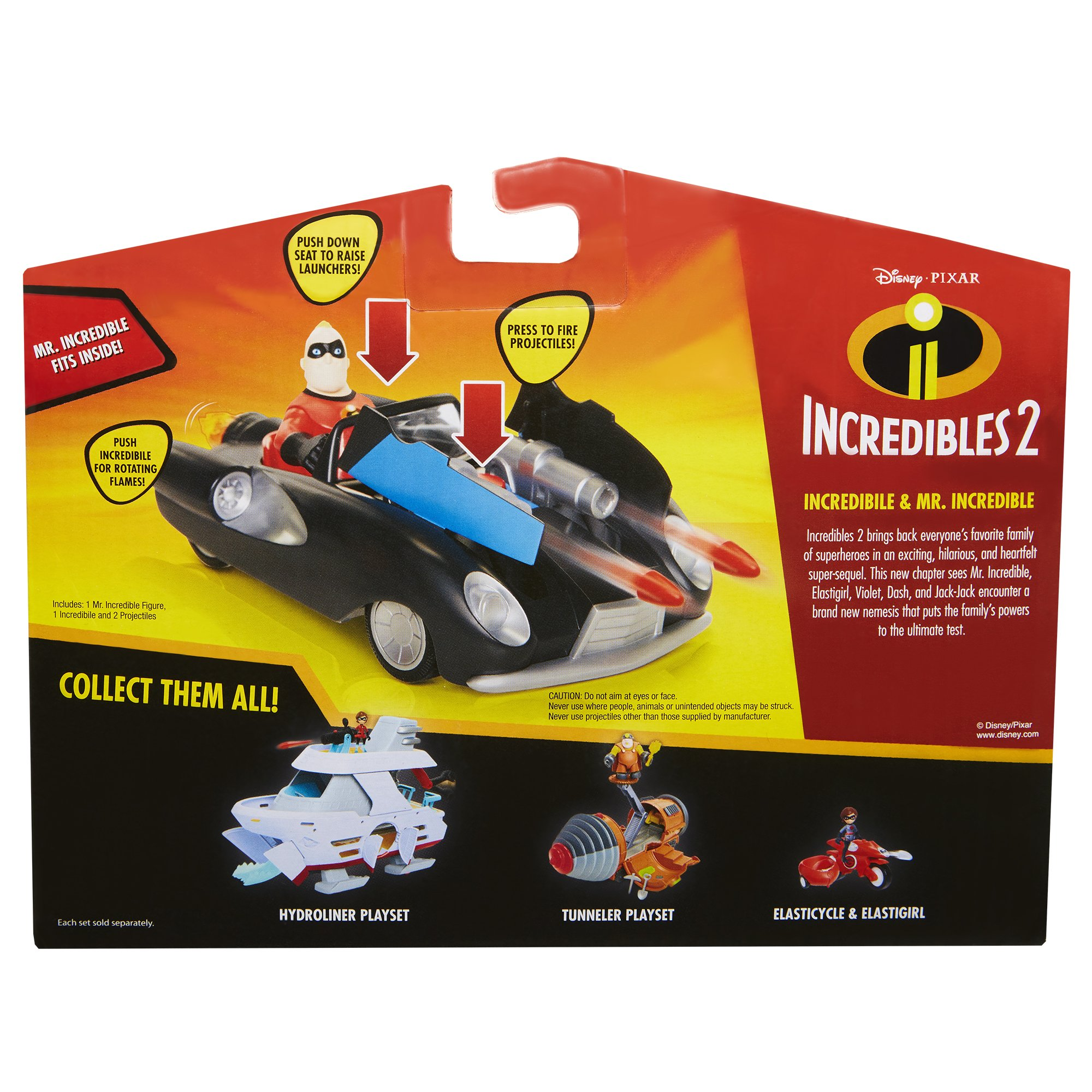 The Incredibles 2 Incredibile Car & Mr. Incredible Action Figure 2-Piece Set, Black Car and Red Mr. Incredible Figure, Medium by The Incredibles 2 (Image #7)