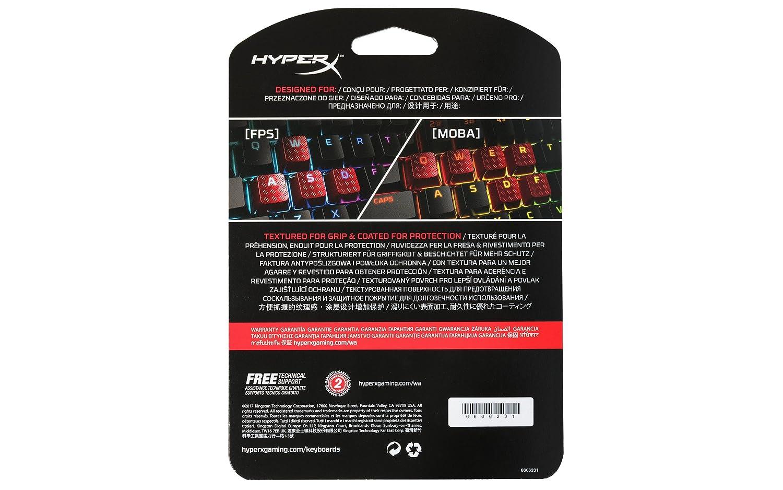 Rouge HyperX Touches gaming de rechange FPS /& MOBA Kit de mise /à niveau