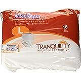 Tranquility Premium Overnight Disposable Absorbent Underwear (DAU) - LG - 16 ct, White