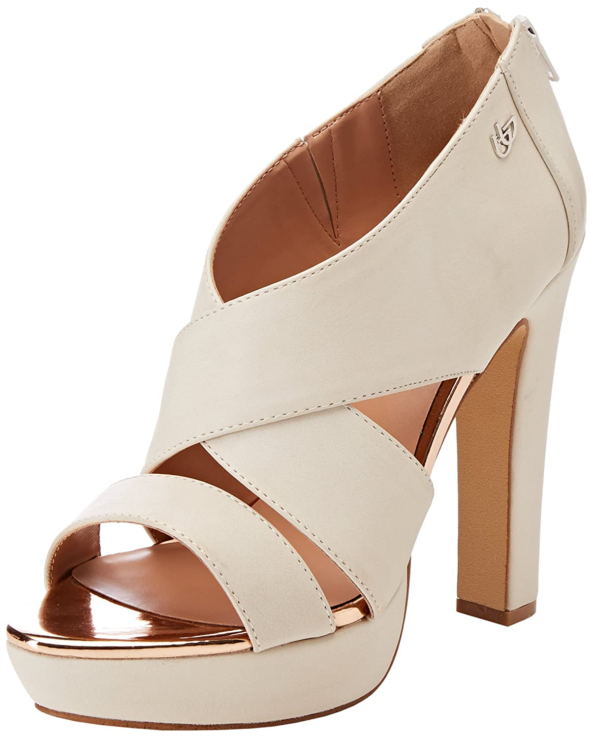 Byblos Thin Hell, Sandales Bout Ouvert Femme, (Nero 001), 37 EU