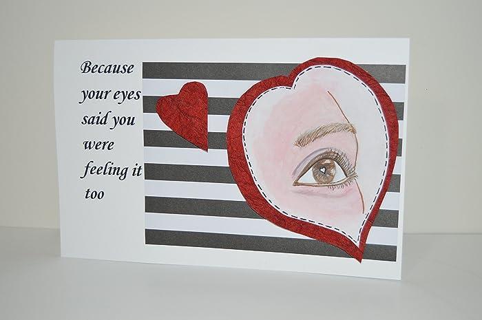 Amazon handmade valentines day greeting card with a romantic handmade valentines day greeting card with a romantic message m4hsunfo
