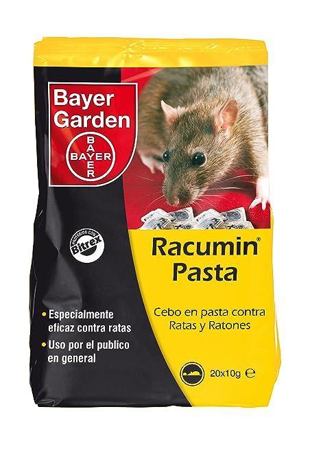 Bayer Garden Racumin Pasta - Raticida en pasta de alta eficiencia contra ratas en interiores y