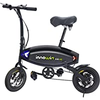 """InnoWin Chameleon Pedals Power Assist 48"""" x 26"""" Foldable Electric Weekend Bike Bicycle"""