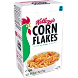 Kellogg's Corn Flakes, Breakfast Cereal, Original, Fat-Free, Single Serve, 0.81 oz Box(Pack of 70)