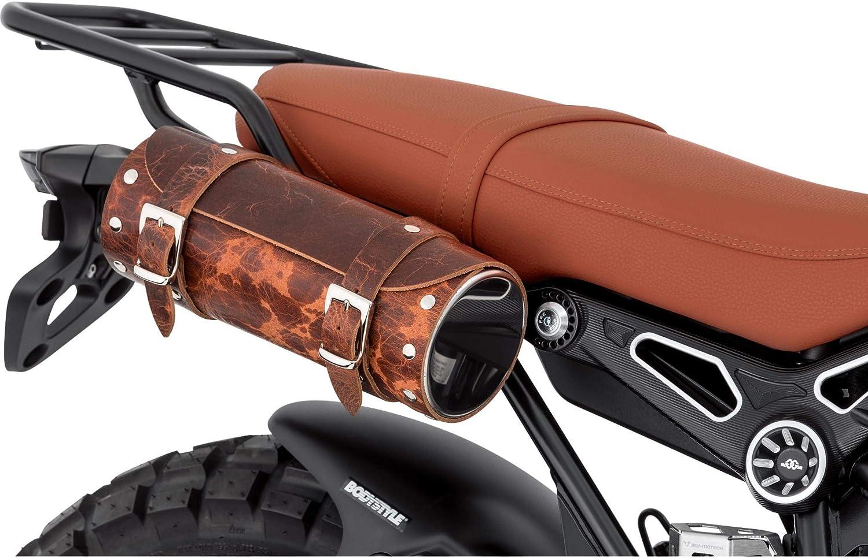 Stoverinck Hecktasche Motorrad Motorradtasche Lederwerkzeugrolle Borchia 2 5 Liter Antik Braun Unisex Chopper Cruiser Ganzjährig Auto