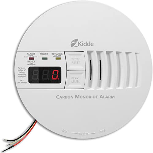 Kidde – 21006407 AC Hardwired Operated Carbon Monoxide Detector Alarm with Digital Display Model KN-COP-IC