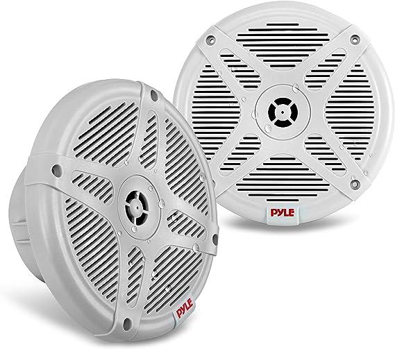Waterproof with Bluetooth Wireless Pyle Dual 6.5-In Wall Mount Marine Speakers