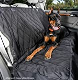 4Knines® Dog Seat Cover - Best Nonslip Backing - Side Flaps - Waterproof - Unconditional Lifetime Warranty - Black
