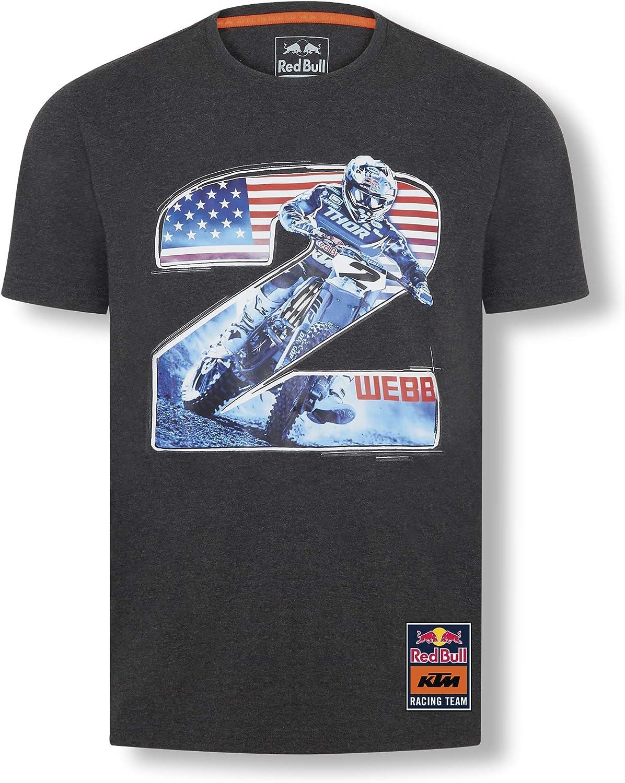 Red Bull KTM Cooper Webb 2 T-Camisa, Gris Hombres Camisa Manga Larga, KTM Factory Racing Original Ropa & Accesorios