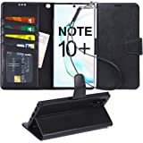 Arae Wallet Case for Samsung Galaxy Note 10 Plus/Note 10 Plus 5G PU Leather flip Cover [Stand Feature] with ID&Credit Cards P