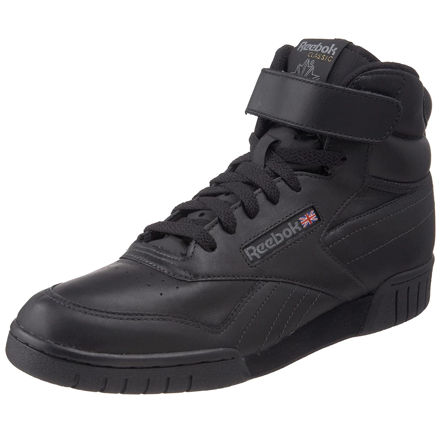 Amazon.com | Reebok Men's Ex-O-Fit Hi Classic, Black, 9 M US | Fashion  Sneakers