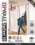 ZipWall ZF10 Panneau de barrière réutilisable ZipFast pour barrières antipoussières, 3,0m
