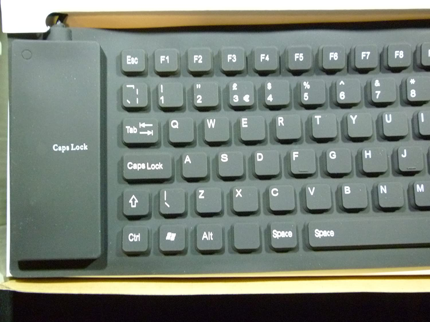 PK Green Black UK Flexible Keyboard - Foldable Silent Silicone ...