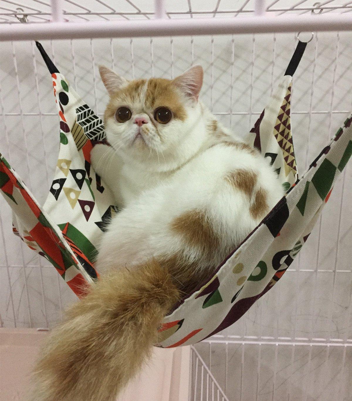 Margelo Pet Cage Hammock, Cat Ferret Hammock Bed for Bunny/Rabbit/Rat/Small Animals 5